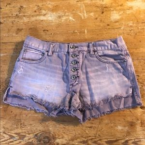 Purple high waisted Free People shorts